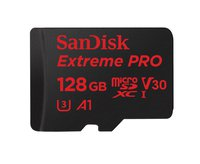 Extreme Pro microSDXC 128 GBmicroSDXC - UHS-I Karte, Schreib-/Lesegeschwindigkeit 90/100 MB/s, Geschwindigkeit UHS-I Class 10, Video Speed Class V30/UHS Class U3, App Performance Class 1 (A1), 4K / Full HD Video, 3D tauglich